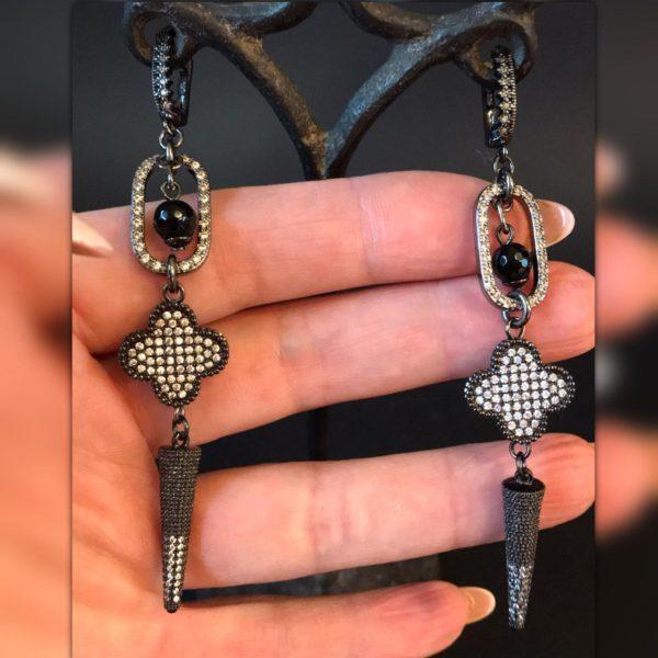 Дизайнерские серьги с крестами