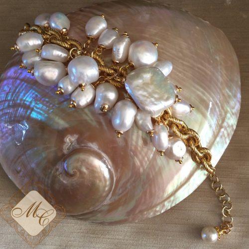 Жемчужный браслет из барокко