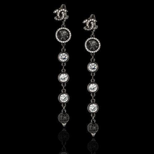 Дизайнерские серьги с кристаллами Сваровски