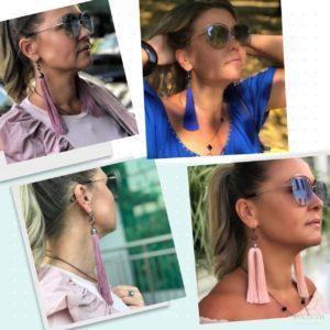 Где купить длинные модные серьги кисти украшения в Москве фото цена картинка сережки