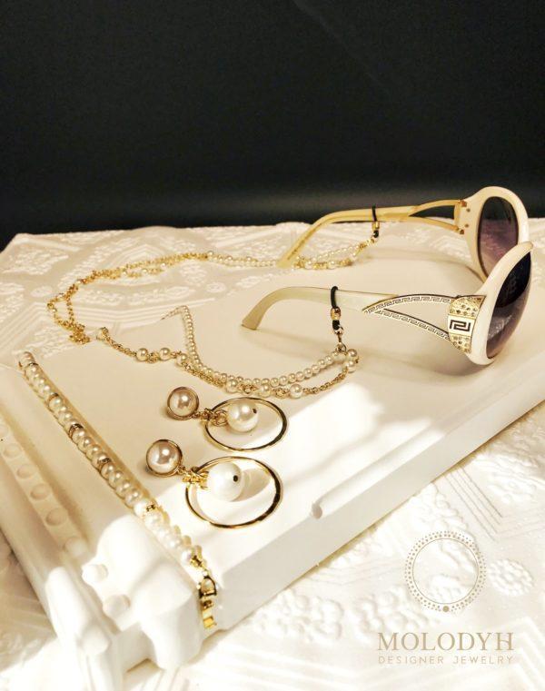 Цепочка на очки двойная