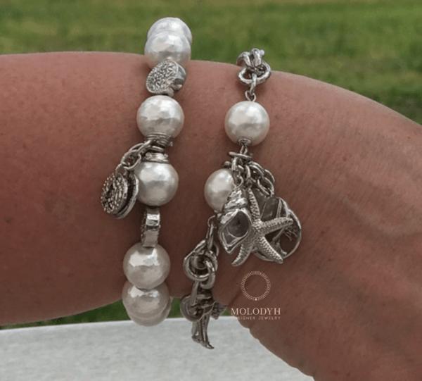 Женские браслеты из жемчуга