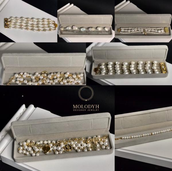 Комплект браслетов из жемчуга
