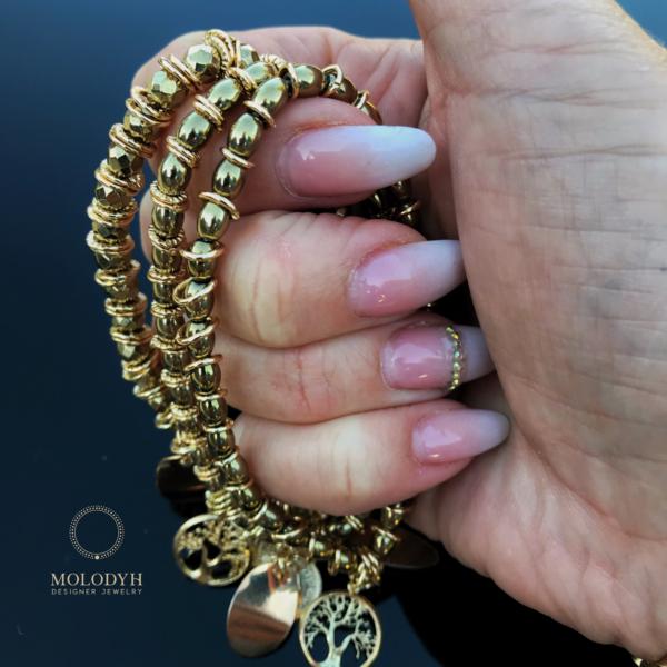 Комплект браслетов из Гематита