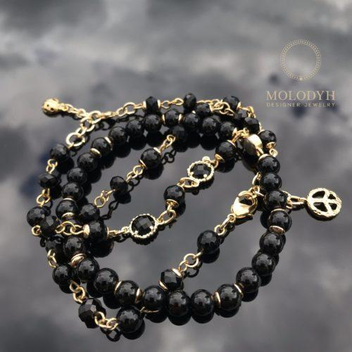 Комплект черных браслетов