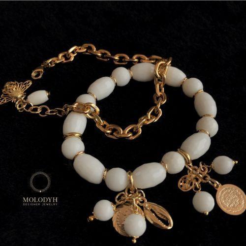 Комплект браслетов из Агата