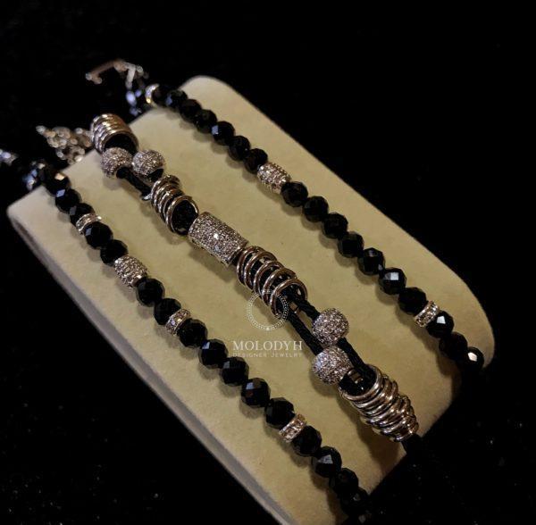Комплект браслетов шпинель