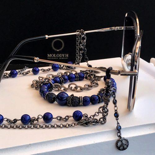 Цепочка на очки из Лазурита