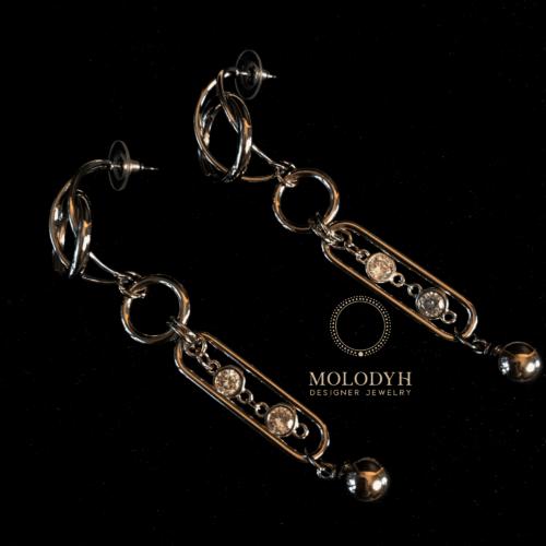 Серьги металлические кольца