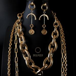 Магазин крупных цепей на шею под золото