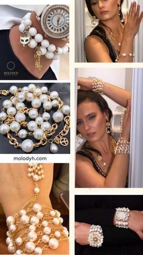 жемчужные браслеты с золотом жемчуг барочный женские украшения на руку