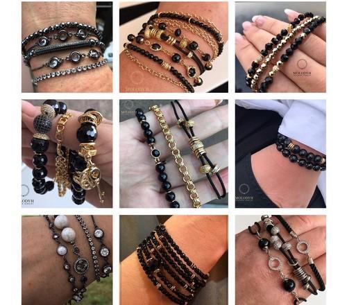 Каталог женских браслетов из жемчуга и натурального камня фото картинки цена купить в интернете