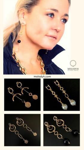 женская бижутерия серьги длинные под золото под серебро серьги под заказ
